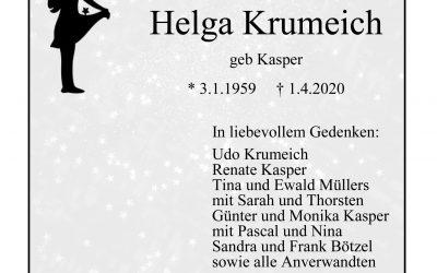 † Helga Krumeich
