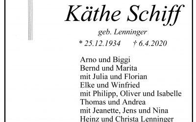 † Käthe Schiff