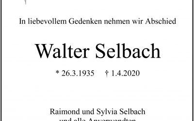 † Walter Selbach