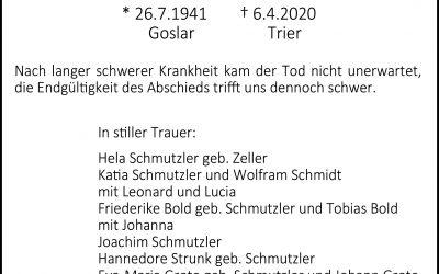 † Dr. Klaus-Peter Schmutzler