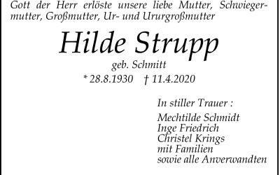 † Hildegard Strupp