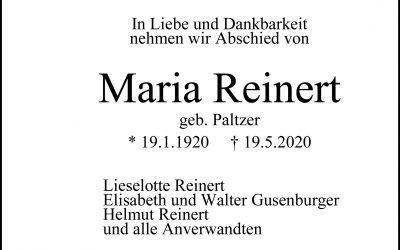 † Maria Reinert
