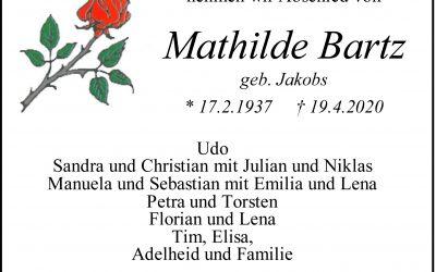 † Mathilde Bartz