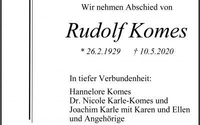 † Rudolf Komes