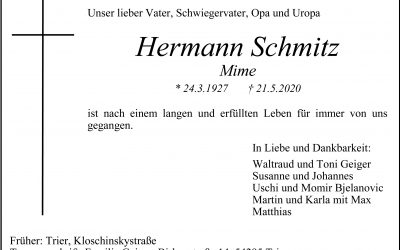 † Hermann Schmitz