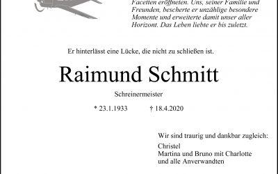 † Raimund Schmitt