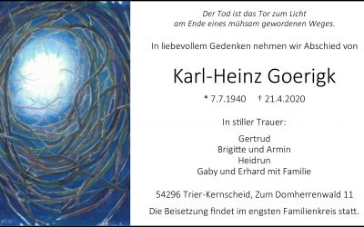 † Karl-Heinz Goerigk