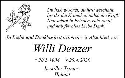 † Willi Denzer