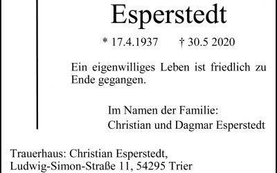 † Joachim Esperstedt
