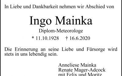 † Ingo Mainka