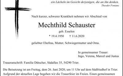 † Mechthild Schauster