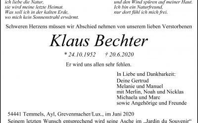 † Klaus Bechter