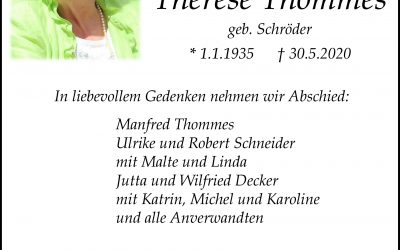 † Therese Thommes