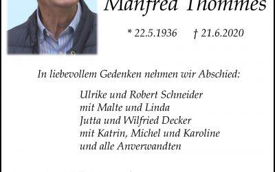 † Manfred Thommes
