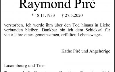 † Raymond Piré