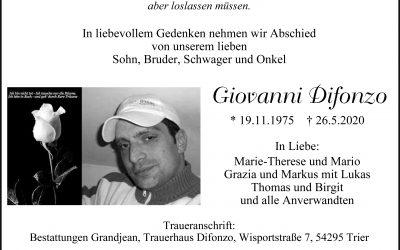 † Giovanni Difonzo