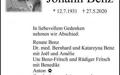 † Johann Benz