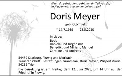 † Doris Meyer