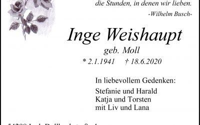 † Inge Weishaupt