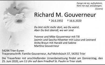 † Richard Gouverneur