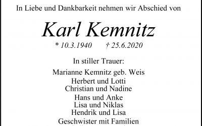 † Karl Kemnitz