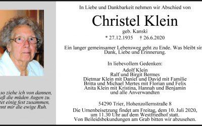 † Christel Klein