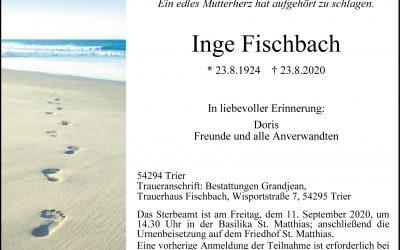 † Inge Fischbach