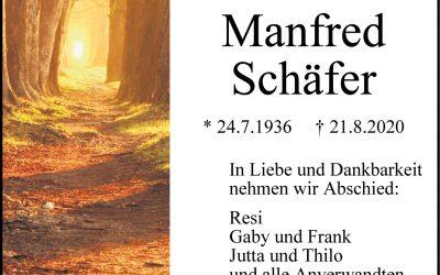 † Manfred Schäfer