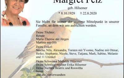 † Margret Felz