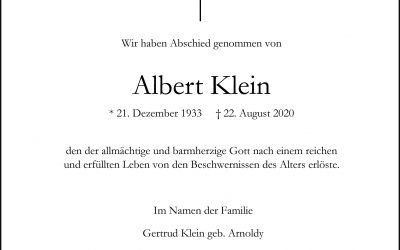 † Albert Klein