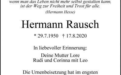 † Hermann Rausch