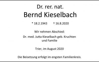 † Dr. rer. nat. Bernd Kieselbach