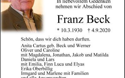 † Franz Beck