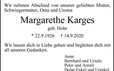 † Margarethe Karges