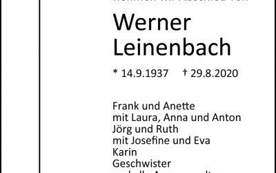 † Werner Leinenbach