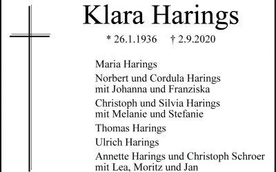 † Klara Harings