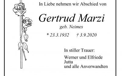 † Gertrud Marzi