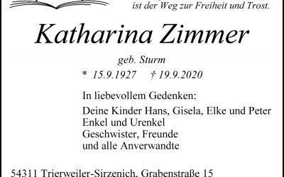 † Katharina Zimmer