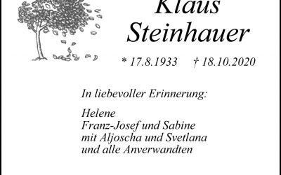 † Nikolaus Steinhauer