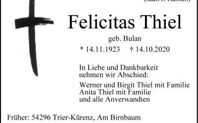 † Felicitas Thiel
