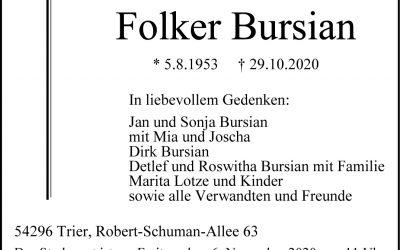 † Folker Bursian