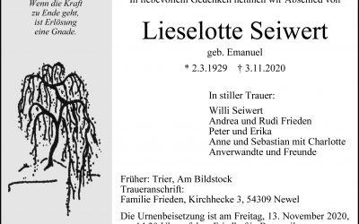 † Lieselotte Seiwert