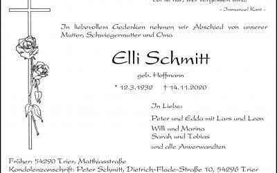† Elli Schmitt