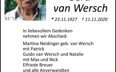 † Gerd van Wersch
