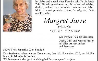 † Margret Jarre