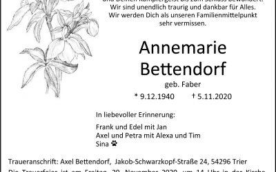 † Annemarie Bettendorf