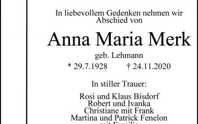 † Anna-Maria Merk