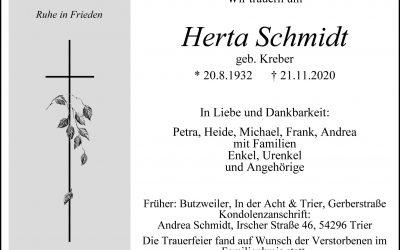 † Herta Schmidt