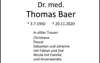 † Dr. med. Thomas Baer