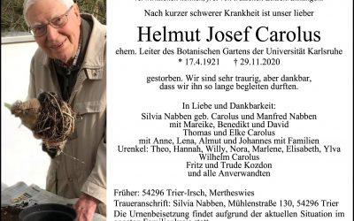 † Helmut Carolus
